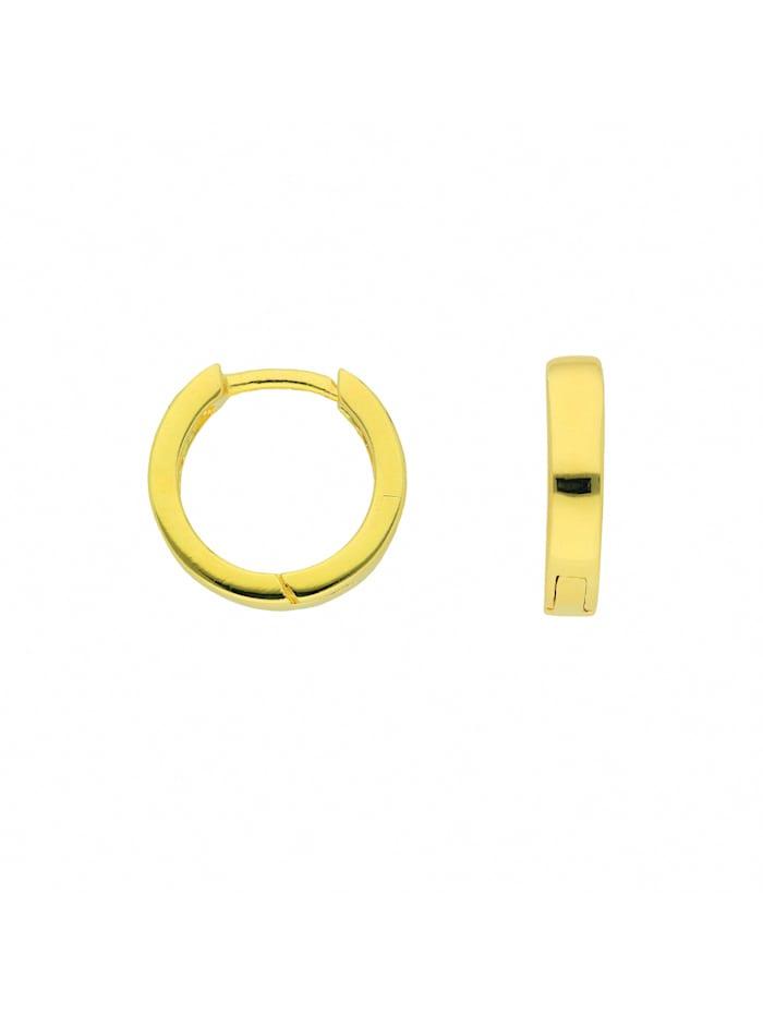 1001 Diamonds Damen Silberschmuck 925 Silber Ohrringe / Creolen Ø 11,6 mm, vergoldet