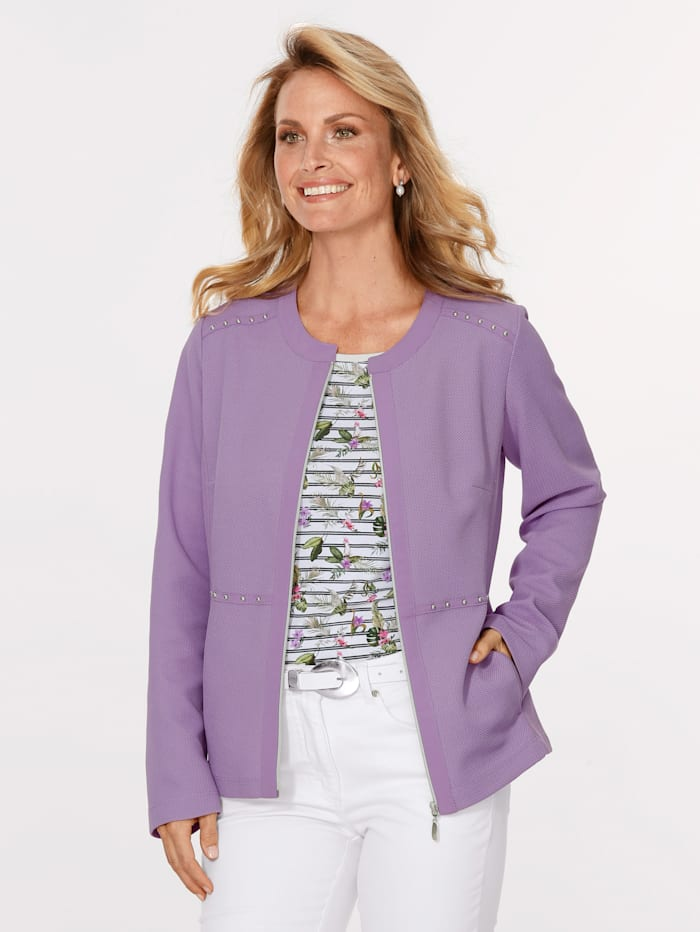 MONA Jacket made from a textured fabric, Lavender