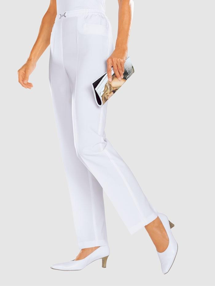 m. collection Pantalon couture allongeante, Blanc