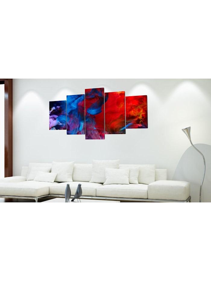 Wandbild Dance of Colourful Flames
