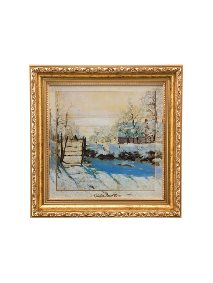 Goebel Goebel Wandbild Claude Monet - Winterlandschaft, Monet - Winterlandschaft