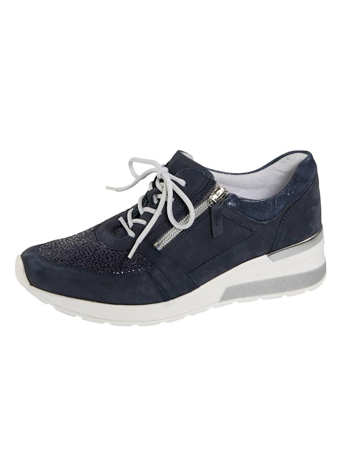 Waldläufer Šněrovací obuv s dodatečným zipem, Tmavá modrá