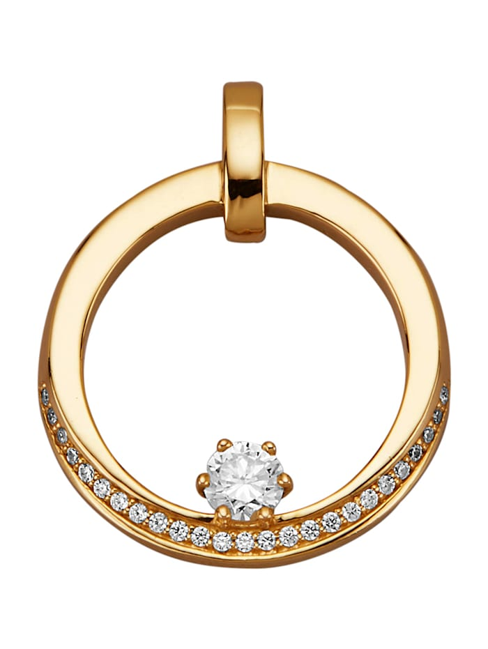 Diemer Diamant Anhänger mit Brillanten, Weiß