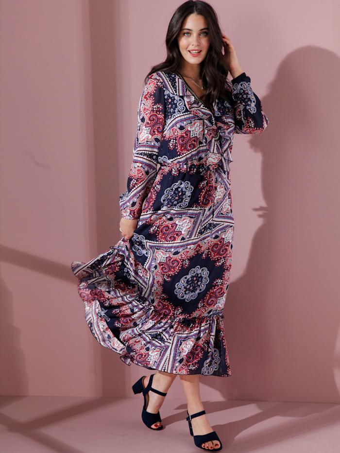 MIAMODA Kleid mit schönem Tuchdruck, Rot
