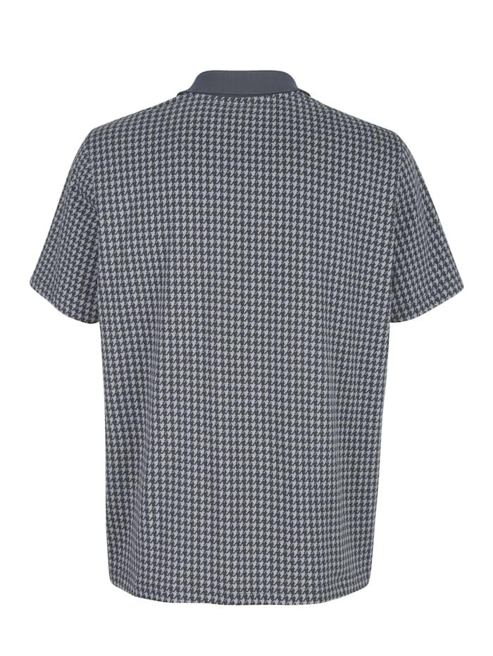 Poloshirt met pied-de-pouledessin