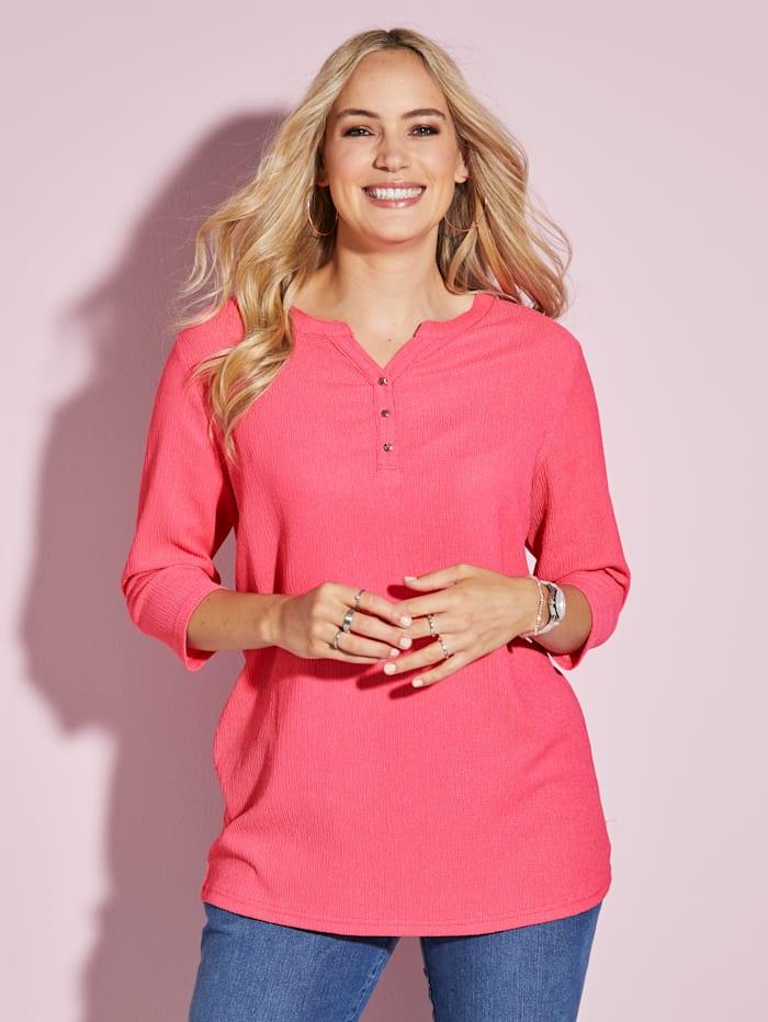 MIAMODA Shirt met vrouwelijke halslijn, Pink