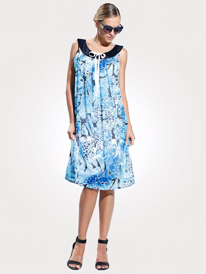 Comodo Robe de plage à ravissant jeu de motifs, Bleu