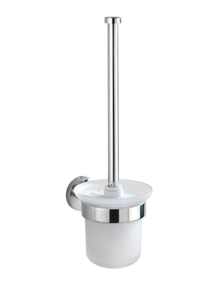 Wenko WC-Garnitur offen Bosio Edelstahl glänzend, rostfrei, Glänzend, Behälter: Satiniert