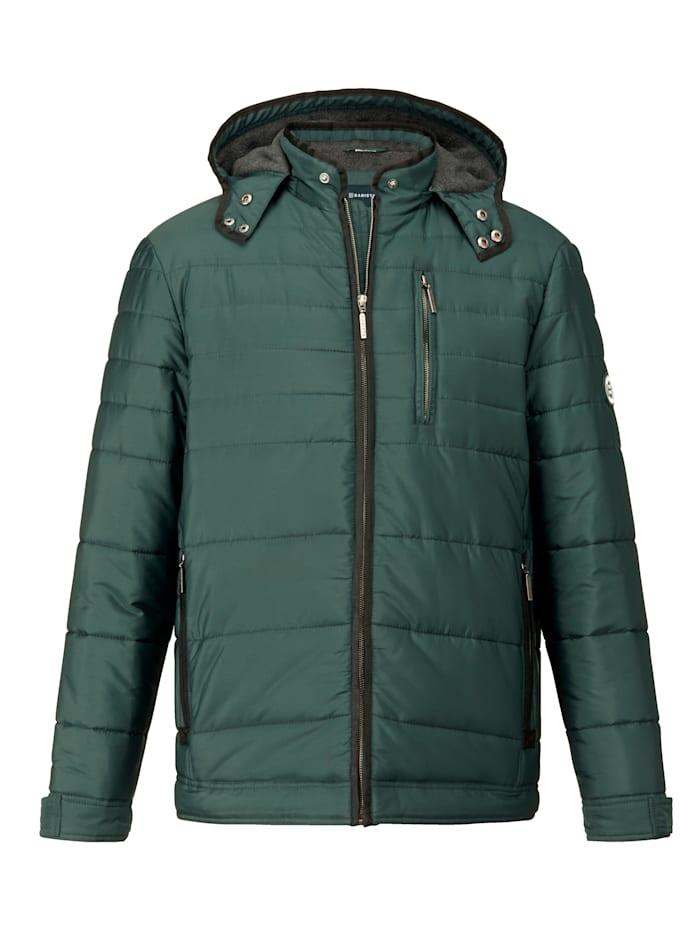 BABISTA Gewatteerde jas met afneembare capuchon, Groen