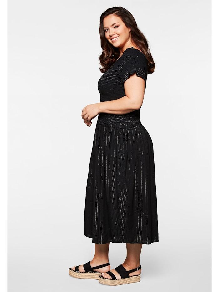 Sheego Kleid mit gesmoktem Oberteil