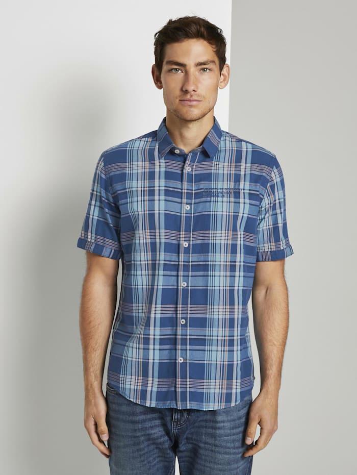 Tom Tailor Kariertes Hemd, blue base turquoise check