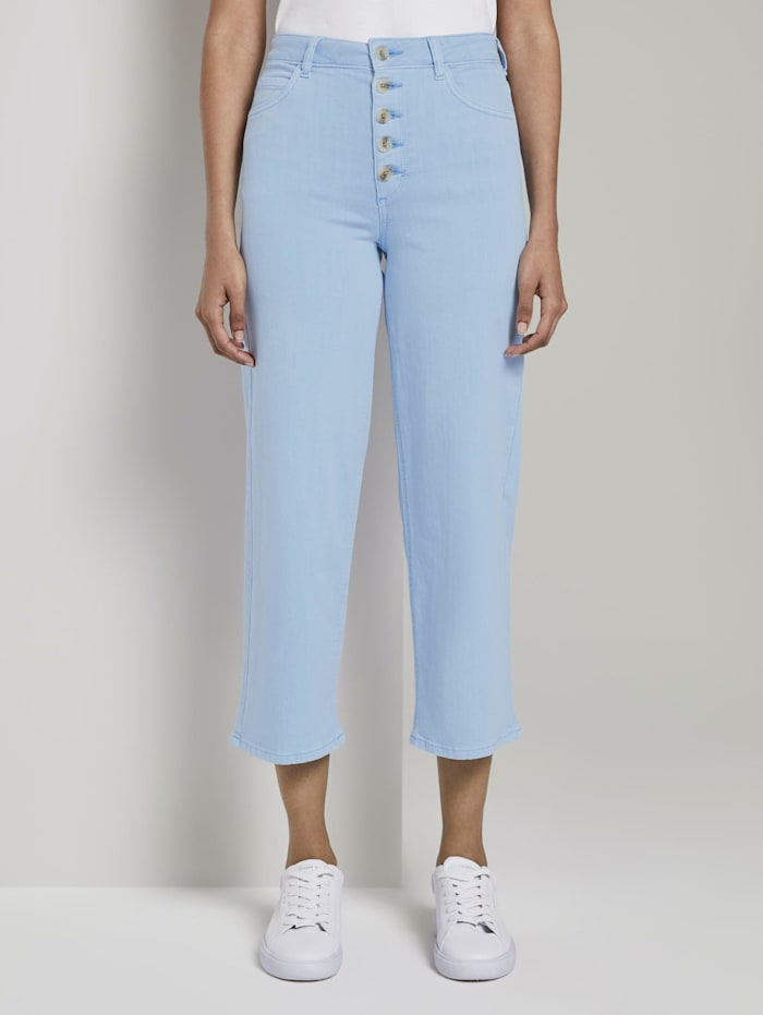 Tom Tailor mine to five Coloured Denim Culotte, Soft Charming Blue