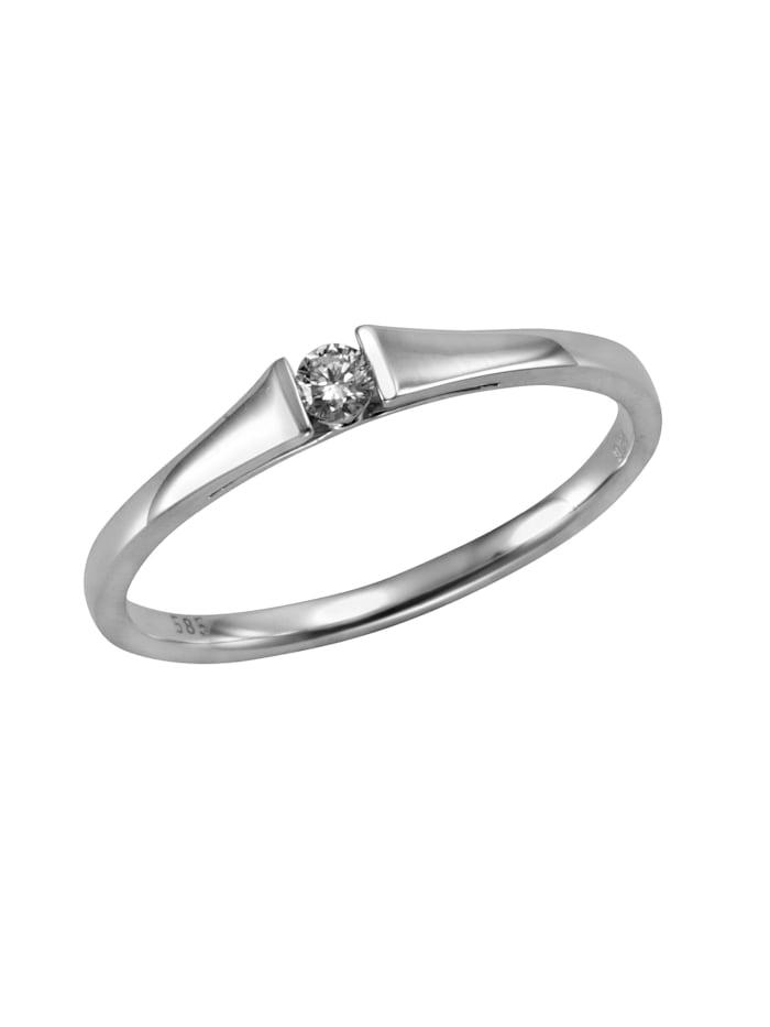 Orolino Ring 585/- Gold Brillant weiß Brillant Glänzend 0,08ct. 585/- Gold, weiß