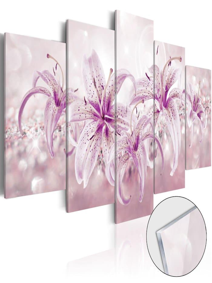 artgeist Acrylglasbild Purple Harmony [Glass], Violett,Weiß,rosa