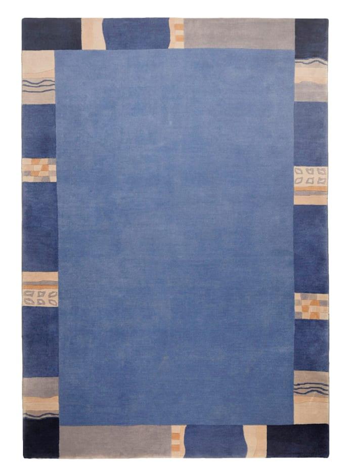 Theko®die Markenteppiche Handgeknoopt vloerkleedAvanti, Blauw