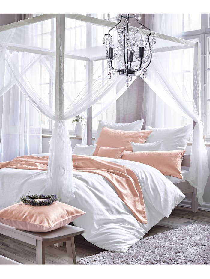 Curt Bauer Parure de lit en brocart damassé 'Finja', Blanc