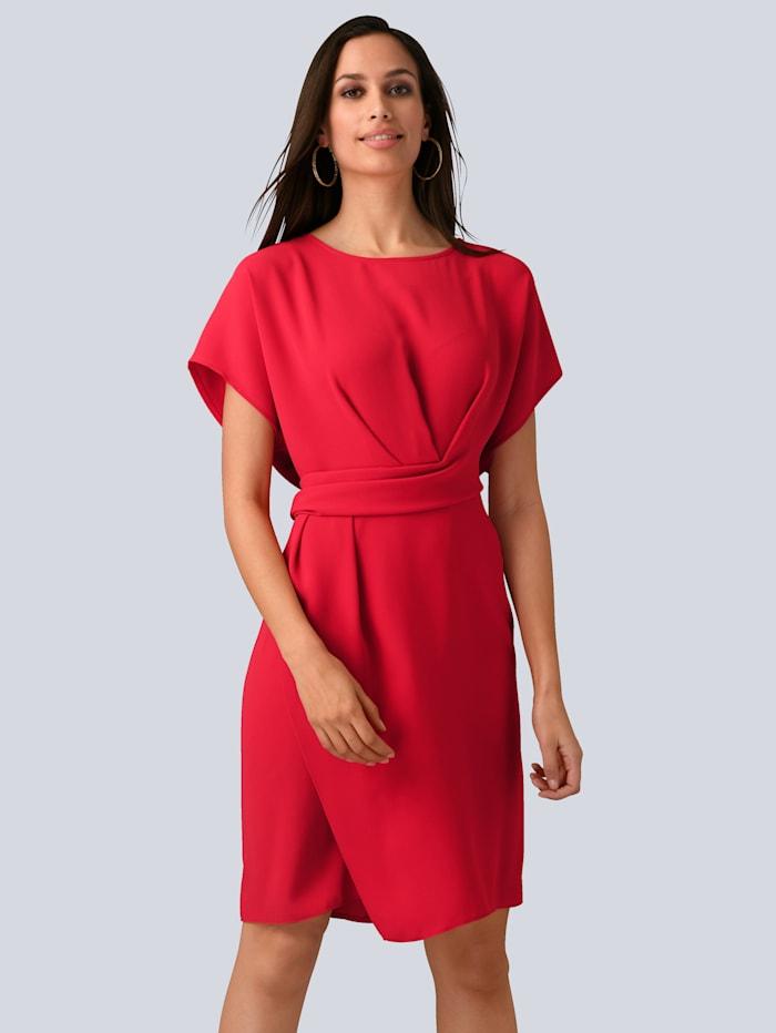 Alba Moda Kleid mit femininem Wickeldetail in der Taille, Koralle