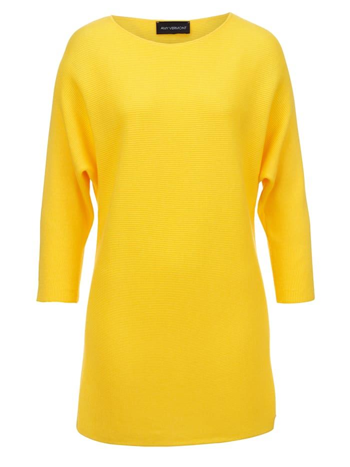AMY VERMONT Pullover mit Fledermausärmel, Gelb