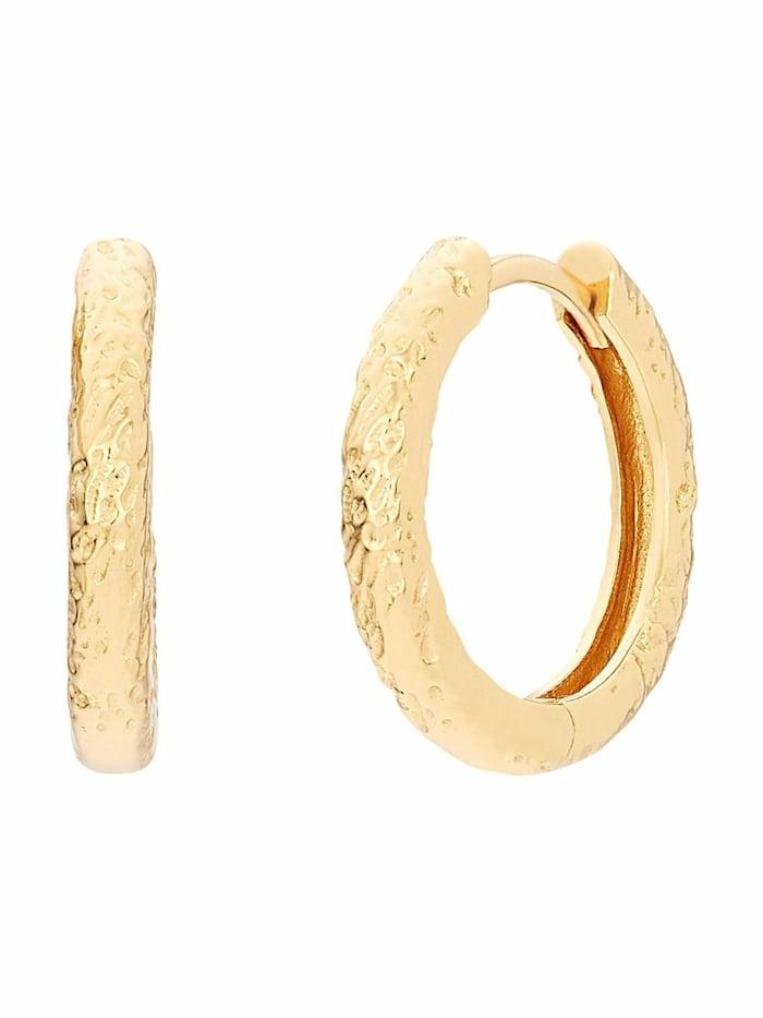 Noelani Creolen für Damen, Sterling Silber 925, Gold