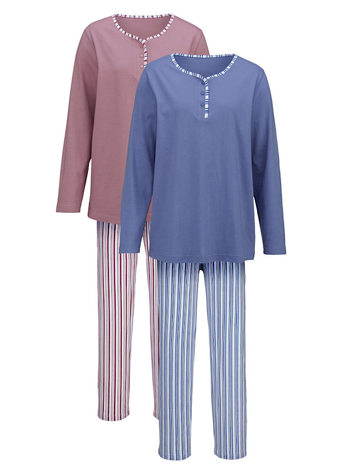 Harmony Pyjamas, Gammalrosa/Blå