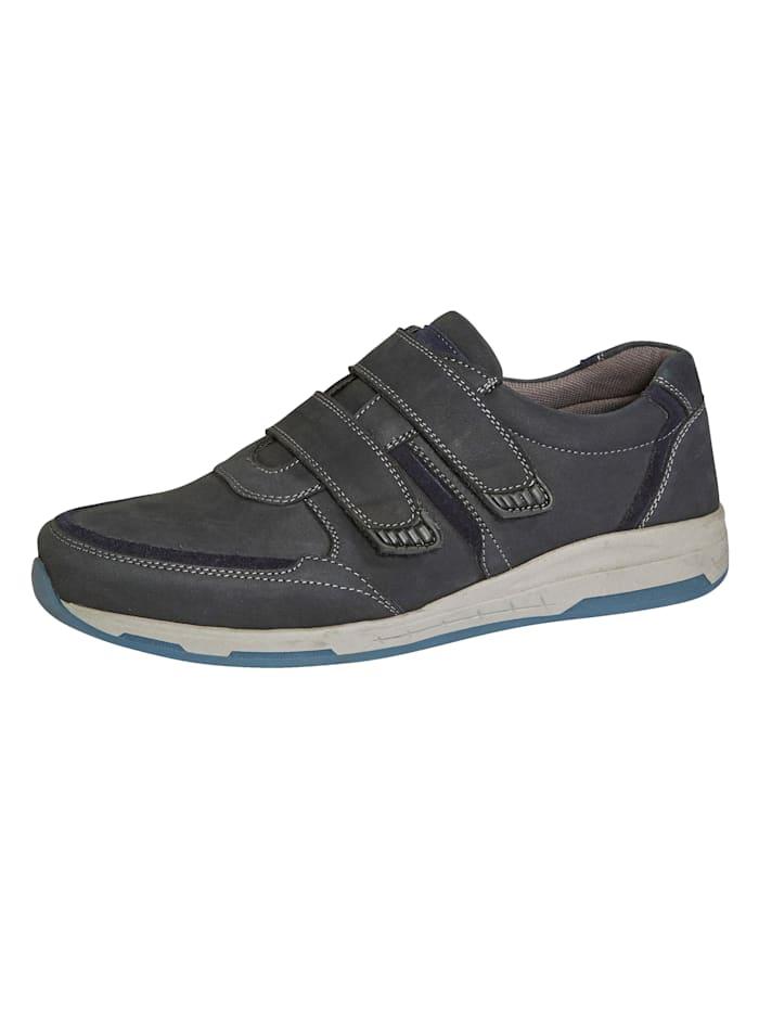 Klittenbandschoen van een hoogwaardige leercombinatie, Donkerblauw