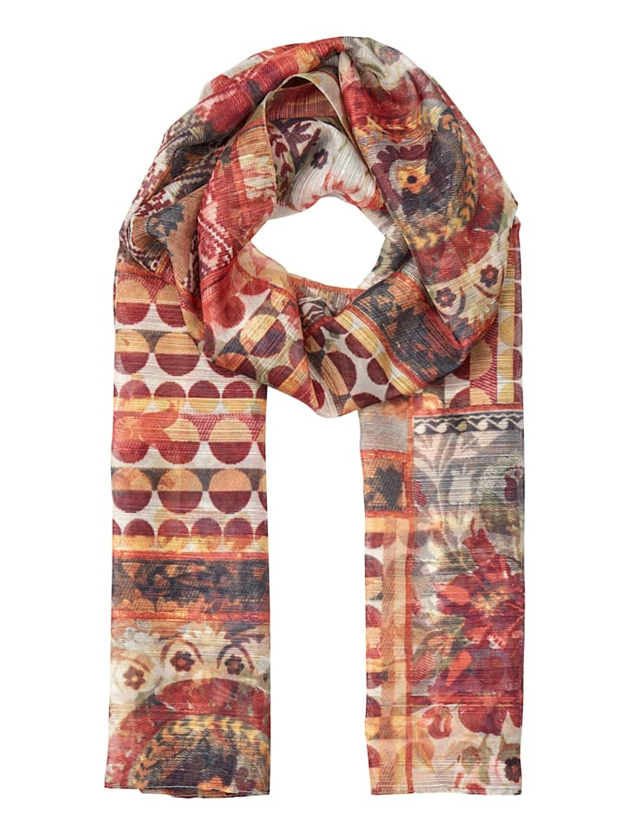 MONA Sjaal, bruin/multicolor