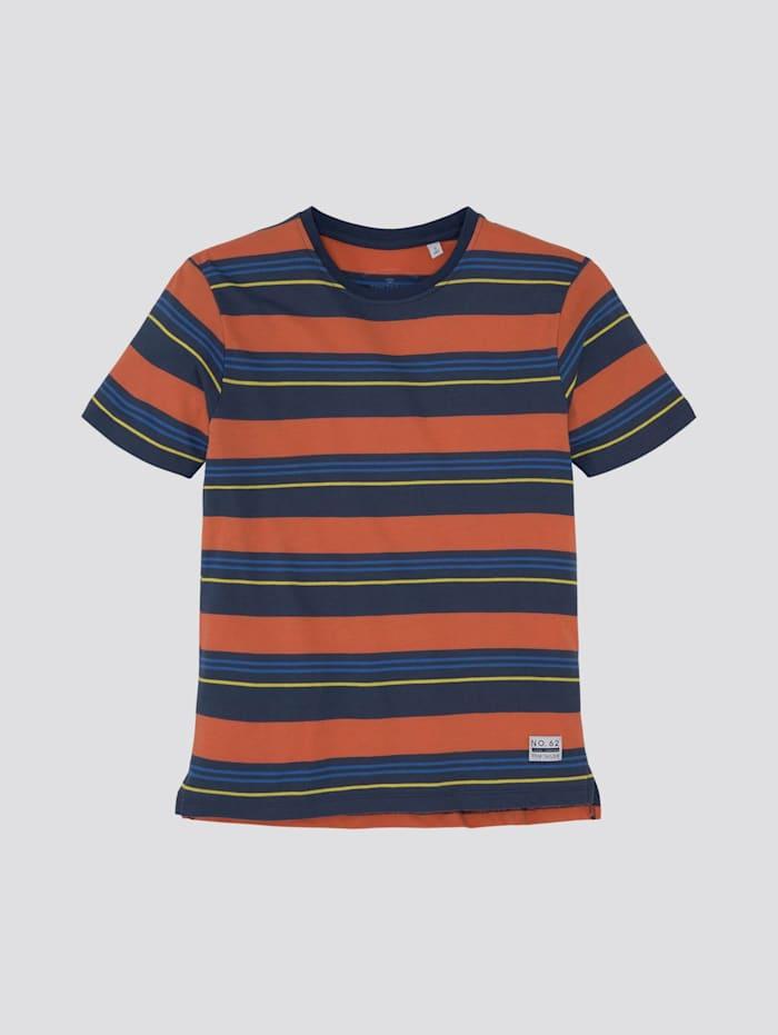 Tom Tailor Bunt gestreiftes T-Shirt, dress blue|blue