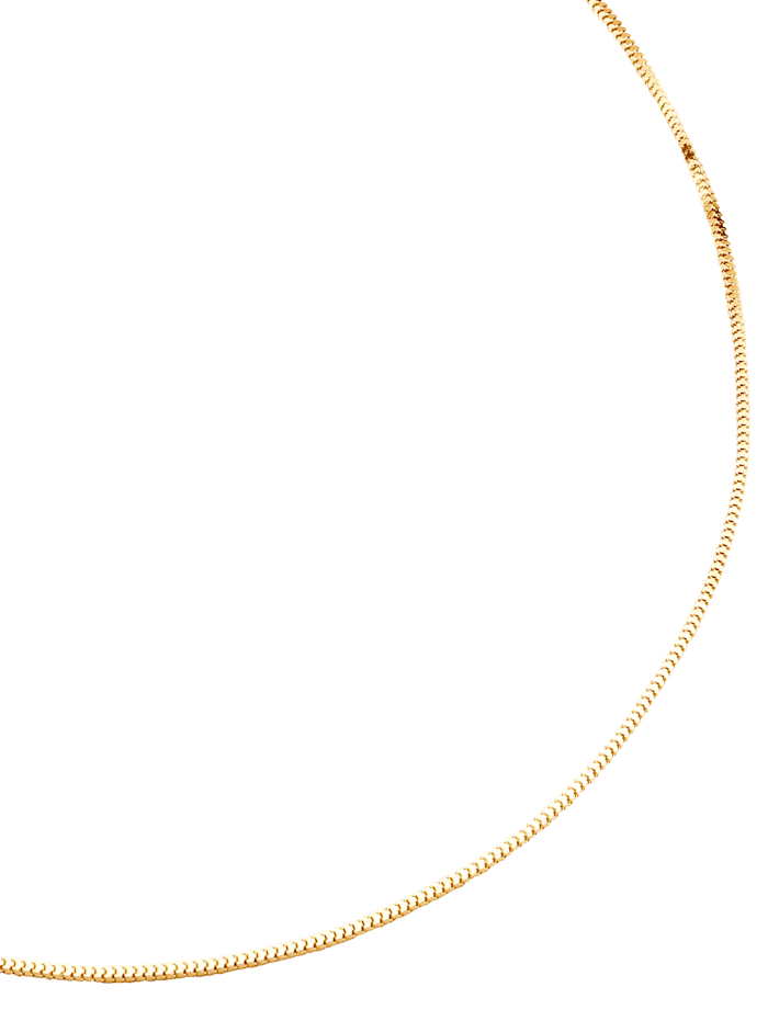 Schlangenkette in Gelbgold, Gelbgoldfarben