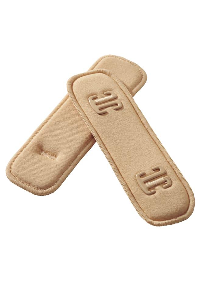 Miss Perfect Rembourrage pour bretelles S'adapte à la plupart des fines bretelles de soutiens-gorge, Nude