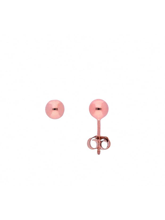 1001 Diamonds Damen Silberschmuck 925 Silber Ohrringe / Ohrstecker Ø 5 mm, rose