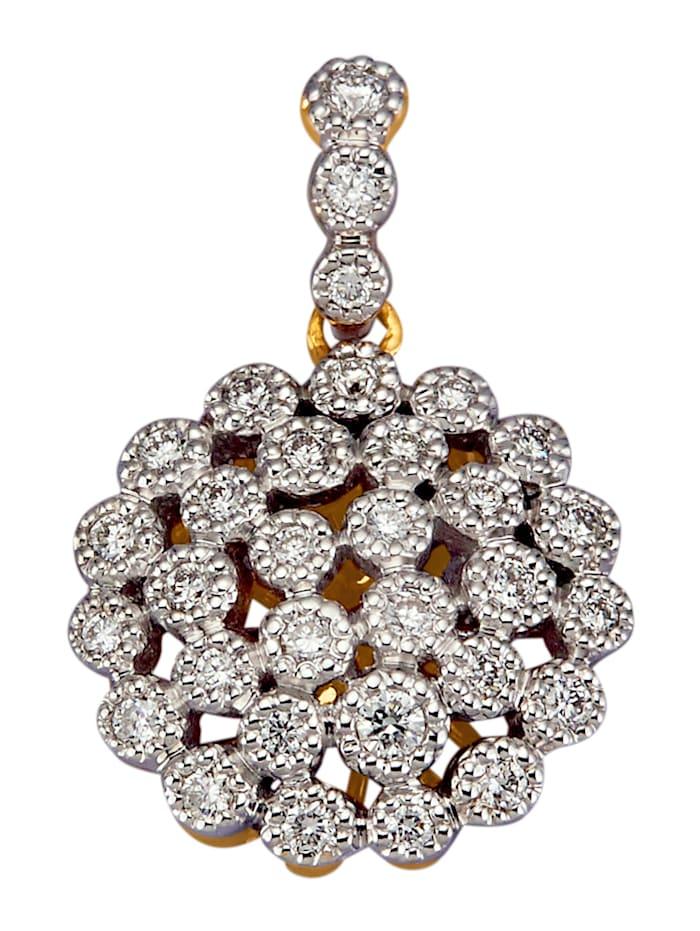 Diemer Diamant Anhänger in Gelbgold 585, Weiß