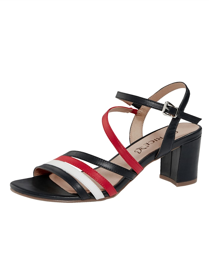 Caprice Sandals, Blue/White/Red