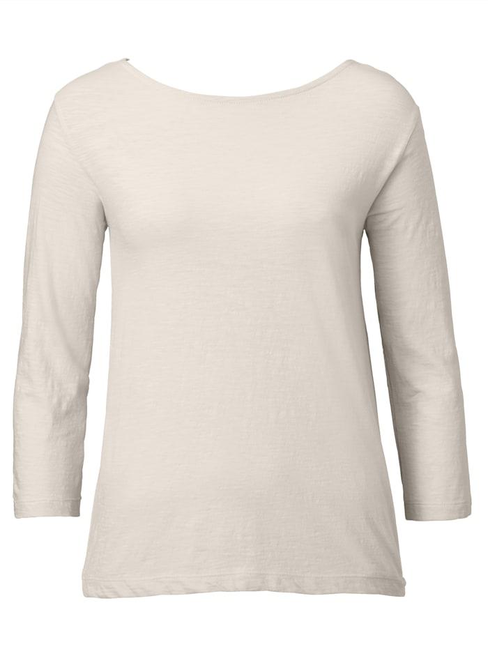 SIENNA Shirt mit Knoten im Rückenteil, Beige