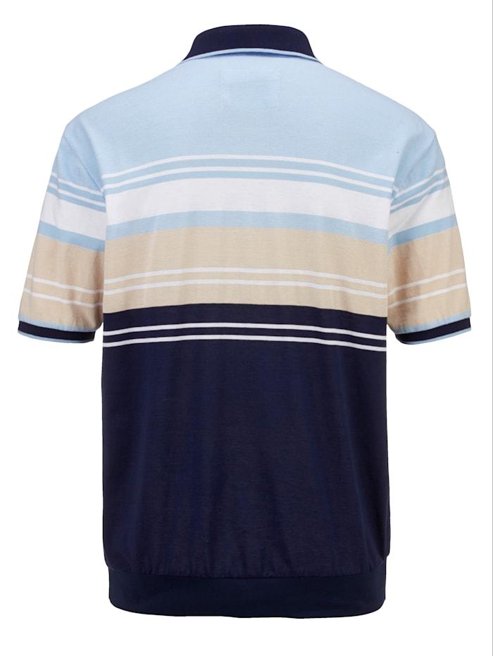 Shirt met ingebreid streepdessin rondom