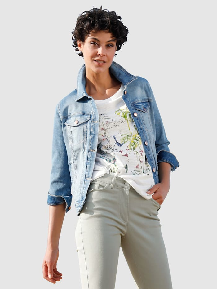 Dress In Jeansjacke in moderner Waschung, Blau