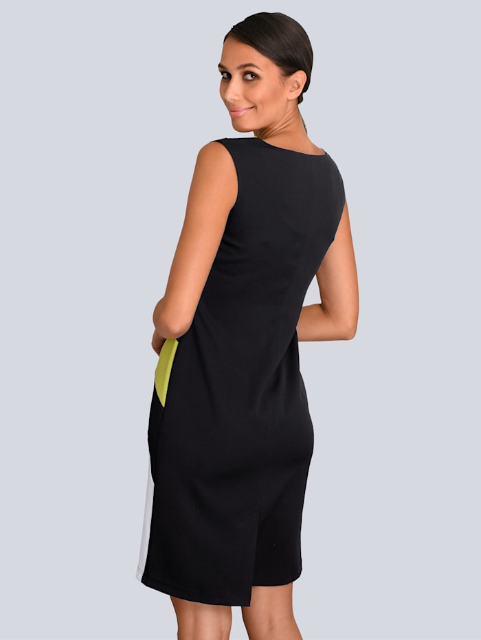 Kleid im Colour Blocking allover