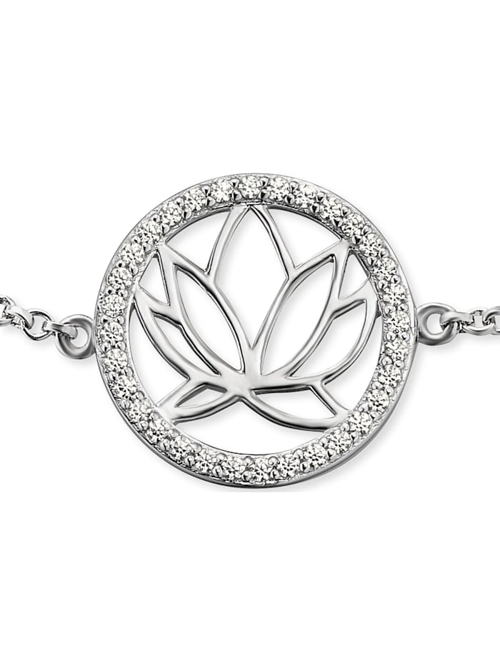 Engelsrufer Damen-Armband Lotus 925er Silber rhodiniert 32 Zirkon