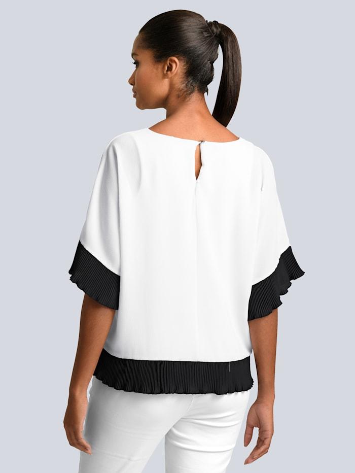 Bluse mit plissierten Saumabschlüssen