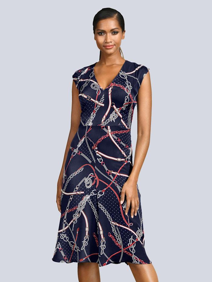 Kleid mit modischem Kettendruck allover