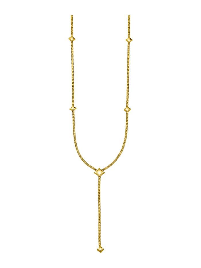 Diemer Gold Y-vormig collier van 18 kt. goud, Geelgoudkleur
