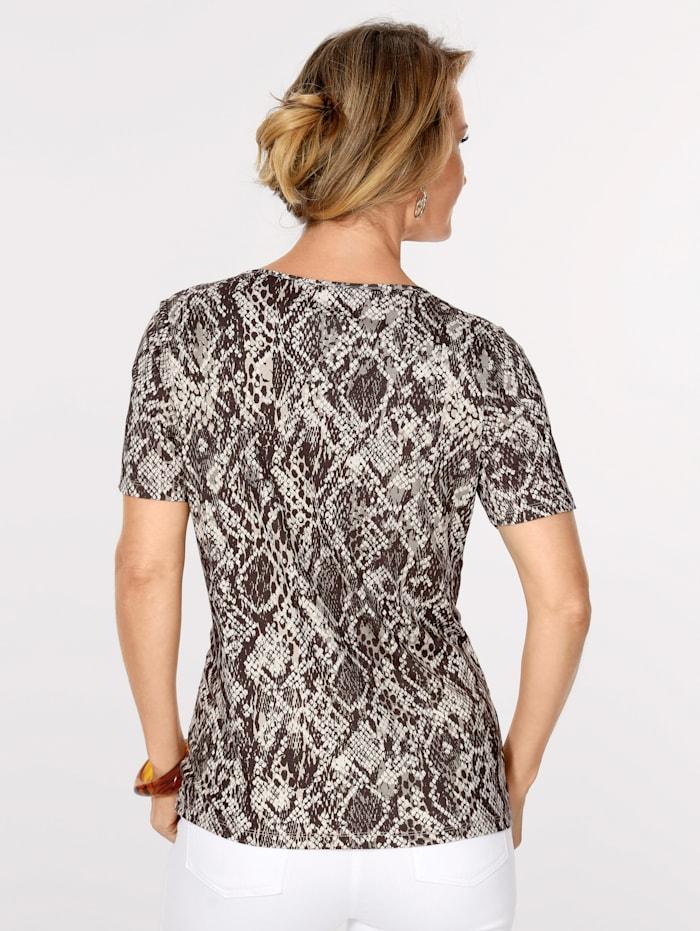 Shirt mit Reptil-Dessin