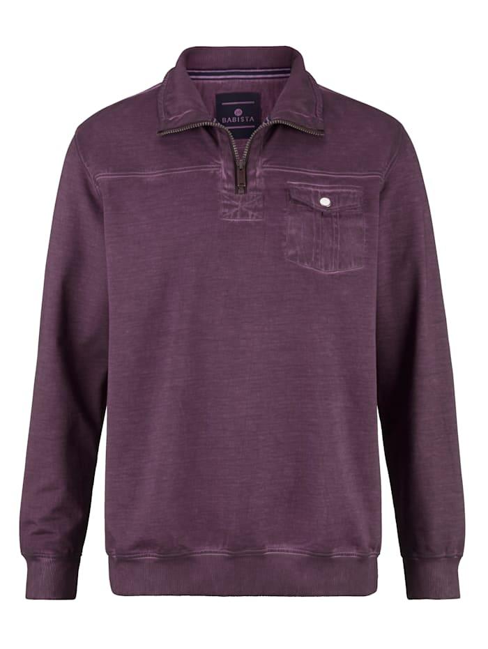 BABISTA Sweat-shirt d'aspect délavé, Baies