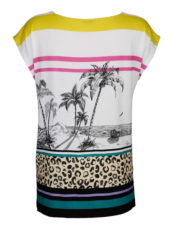 Strandshirt met vogelprint