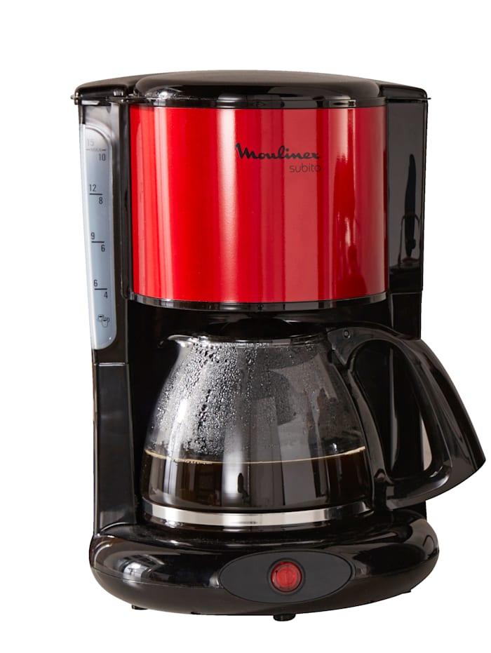 Moulinex Koffiezetapparaat Subito FG360D, Rood/Zwart