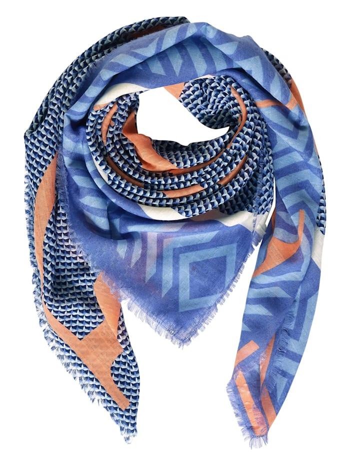 Street One Schal mit Schrift und Print, warm blue