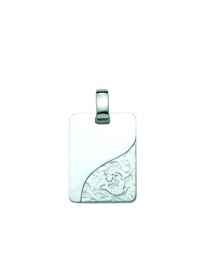 1001 Diamonds Damen & Herren Silberschmuck 925 Silber Sternzeichen Anhänger Fisch, silber