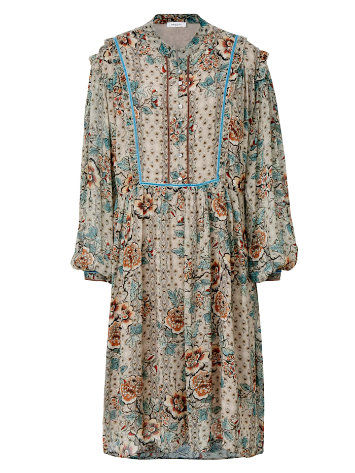 REPLAY Kleid mit Blumenprint, Sand