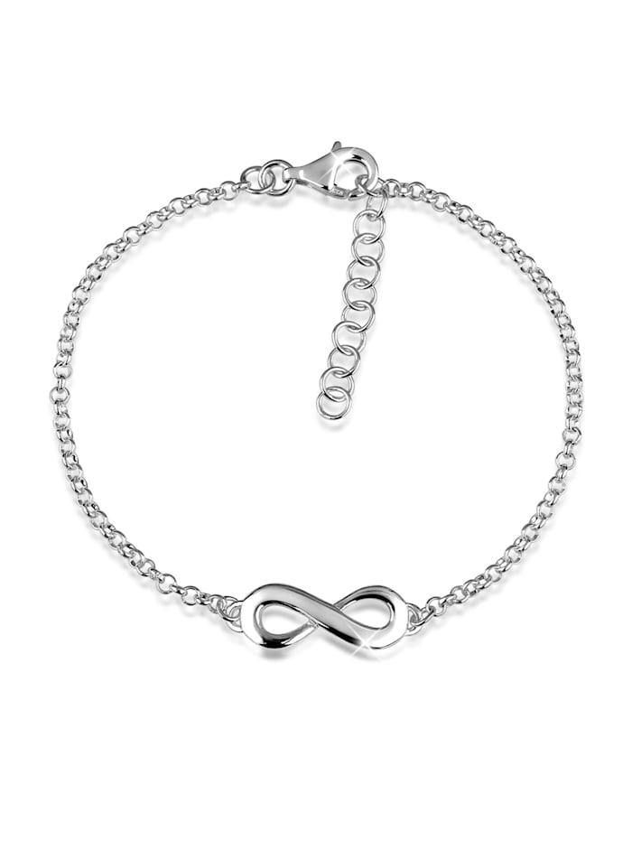 Nenalina Armband Infinity Symbol Unendlichkeits-Zeichen 925 Silber, Silber