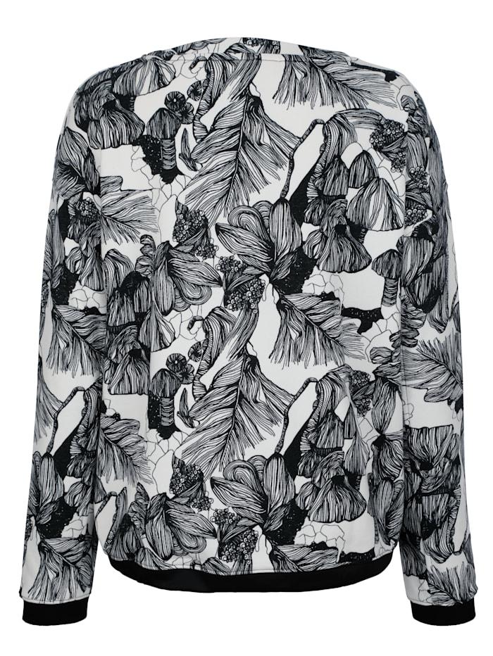 Sweatshirt mit Steinchen in Neofarben