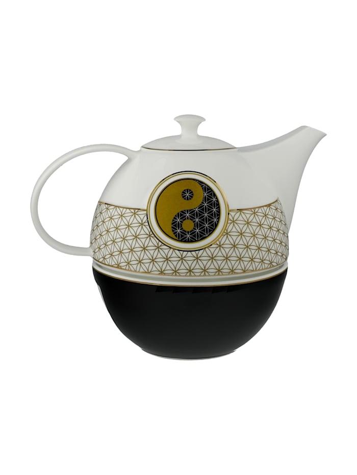 Goebel Teekanne mit Stövchen Blume des Lebens